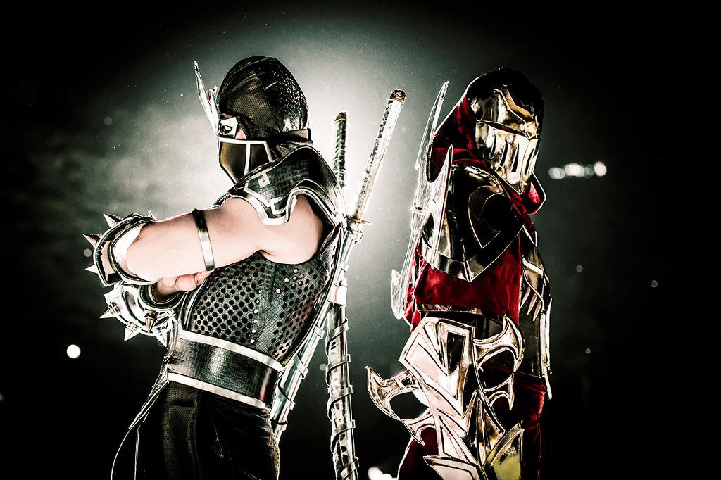 Cosplay 2 vị tướng Shen và Zed siêu ảo và siêu đẹp